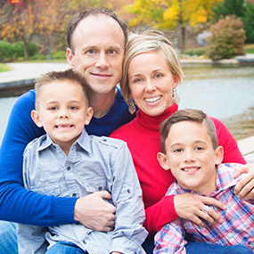 OKC dentist Dr. Brad Mitchell with his family